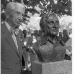 Photograph taken at the May 17, 1977 dedication of the Georgetown Visitor Center and the bust of Justice William O. Justice who helped spearhead the movement to designate the C&O Canal as a National Park. Credit: National Park Service