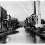 The C&O Canal cut through the industry laden Georgetown to access coal wharves and the markets of D.C. Credit: National Park Service