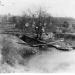 This circa 1900 photograph is the first lock on the canal. It connected Rock Creek to the C & O Canal in Georgetown. The Godey Lime Kiln can be seen in the background. Underwood & Underwood Photograph Credit: National Park Service