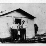 Work crew quarters, men and children