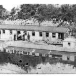 Work scow and company house