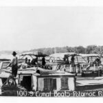 Canal boats on the Potomac River, ca. 1910