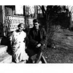 Aunt Sallie and Uncle Paul at the Bowles House, ca. 1930