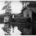 Mrs. Cowan, small shack, and Sometub, 1916