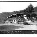 Packet boat in Lock 66, 1904