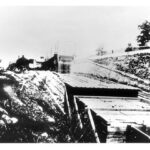 A photograph of the Georgetown Incline Plane duirng operations c. 1870. Credit: Chesapeake & Ohio Canal National Historical Park