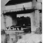 The stop gate, pictured here in 1912, is critical in times of major flooding. Credit: Chesapeake & Ohio Canal National Historical Park