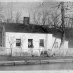 The C & O Canal Company often hired family men for the job of lock keeper. The company believed that men with families were more responsible and could be depended on to operate the locks. Credit: Unknown