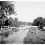 A familiar scene looking downstream from Lock 14 c. 1920. Credit: Consolidation Coal Company Collection, Chesapeake & Ohio Canal National Historical Park