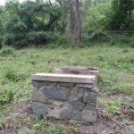 A remnant of the foundation of the Abner Cloud Mill as it is seen today. Credit: C&O Canal National Historical Park