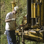 Geotechnical investigations were performed to determine existing soil properties. Credit: Chris Hanessian