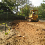 Upon receiving funding from the National Park Service and Maryland's Transportation Enhancement Program, the park swiftly contracted the repair work. Construction began late in 2011. Credit: Chesapeake & Ohio Canal National Historical Park