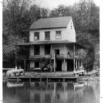 The Abner Cloud House was used as a recreation spot for many years. The residents rented out canoes to the public for day trips up and down the canal. Photo ca. 1939. Credit: National Park Service