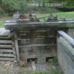 Machinery for drop gate at Lock 10. Credit: C&O Canal National Historical Park