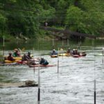 Kayakers swarm the feeder canal training course. Credit: C&O Canal Trust