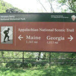 The canal towpath intersects the Appalachian Trail, a much longer trail, near its midpoint. Credit: C&O Canal National Historical Park