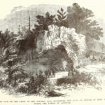 "Frank Leslie's Civil War era illustration of the cave dramatizes the size of the cave. Notice that it has been identified as ""Killing's Cave."" Credit: C&O Canal National Historical Park"