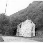 The building shown was built by James Elgin in 1840-1841 and was used as a store and a residence. The Salty Dog Tavern was a wooden structure attached to the upstream side of this ruin and is no longer standing. Credit: National Park Service