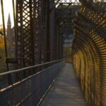 As the sun sets, head across the bridge into Harpers Ferry for dinner. Credit: David P. McMasters