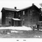 1960 photograph of the Section House at Paw Paw Tunnel. The Section House was used by the Superintendent in charge of the maintenance of that section of the canal. Credit: National Park Service