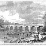The Monocacy Aqueduct was the target of multiple attempts to sabatoge canal operations by Confederate Forces, because of this Union troops were a familiar sight on the aqueduct. Credit: Chesapeake & Ohio Canal National Historical Park