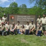 Boy Scout troops are frequent visitors to the campground and tunnel. Credit: C&O Canal Trust
