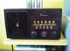 1953 Emerson radio in Lockhouse 6
