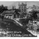 The last boat down the Canal, at least where the canal was able to hold water, left the Cumberland Terminus in the summer of 1936. Credit: Chesapeake & Ohio Canal National Historical Park