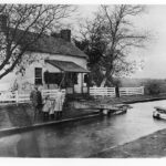Lockkeeper families living at Lock 24 had to contend with the flooding of both the Potomac River and Seneca Creek. Credit: Chesapeake & Ohio Canal National Historical Park