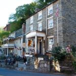 Historic buildings are home to museums, restaurants and shops varying from pottery to hiking gear. Credit: C&O Canal Trust