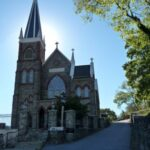 St. Peters Roman Catholic Church was built in the early 1830s to accommodate the influx of Irish laborers working on the canal construction. Credit: C&O Canal Trust