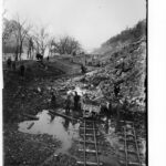 An early photograph of the construction of the Western Maryland Railway. Credit: Western Maryland Railroad Collection, Chesapeake & Ohio Canal National Historical Park
