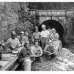 Mission 66 was a National Parks Program that aimed at improving the infrastructure of the National Parks for the enjoyment of future generations. In 1956, this construction crew was busy working on Paw Paw Tunnel. Credit: National Park Service