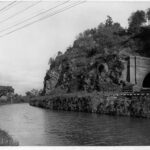 This photograph of the Point of Rocks railroad tunnel exemplifies why the fight between the railroad and the canal took place. Credit: Chesapeake & Ohio Canal National Historical Park