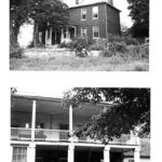 Ferry Hill c. 1945 during the ownership by Beckenbaugh Family, who ran a resturant business in the building. It was not until Frederick W. Morrison took ownership that the major changes including the large two story porch were added to the house. Credit: National Park Service
