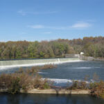 View of Dam 4 from the West Virginia side of the Potomac River. Credit: C&O Canal National Historical Park