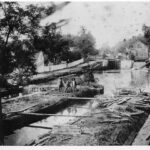 The Four Locks area housed many different enterprises, including boat repair and a feed store. Credit: Chesapeake & Ohio Canal National Historical Park