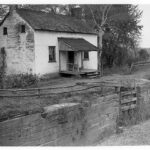 During the 1950's the government allowed Lockhouse 25 to be used by personnel from the Maryland Game and inland Fish Commission. Credit: Chesapeake & Ohio Canal National Historical Park