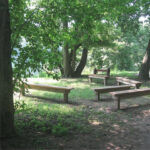 The McCoys Ferry Campground provides a gathering place for campers and school groups on field trips to the park. Credit: C&O Canal National Historical Park
