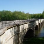 The longest aqueduct on the canal, the Monocacy Aqueduct truly is a magnificent site to behold. Credit: C&O Canal Trust