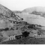 The covered bridge shown in the 1859 photograph was destroyed June 14, 1861 by Confederates retreating from their position in Harpers Ferry Credit: National Park Service