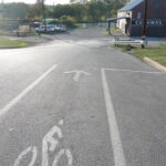 Today, locals and visitors can travel between town and the basin easily in the newly installed bike lanes. Credit: C&O Canal Trust