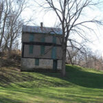 The Flory House is one of the few remaining houses at Four Locks. The Four Locks post office was located either in or behind the house for many years. Credit: C&O Canal National Historical Park