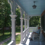 After exploring the area, stop and rest in a rocking chair on the porch of the Bowles house. Take in the canal and its surroundings. If you are lucky, you might have the treat of hearing a local visitor or ranger play banjo or acoustic guitar. Credit: Chesapeake & Ohio Canal National Historical Park