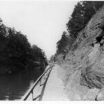 Early photograph of the towpath outside of the north portal of the Paw Paw Tunnel. Credit: National Park Service