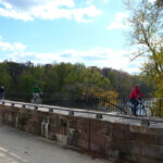 The Monocacy Aqueduct area is a popular access point for residents of Frederick and Dickerson to enjoy a walk or bike ride on the towpath. Credit: C&O Canal Trust