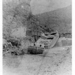 The damage is visible to the Lock 33 area after the 1889 flood which would send the C & O Canal Company into receivership with the B & O Railroad. Credit: National Park Service
