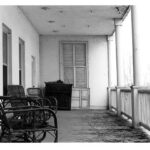 Residents of the stately home would at times escape the heat of summer by sleeping on the second floor porch. Credit: National Park Service