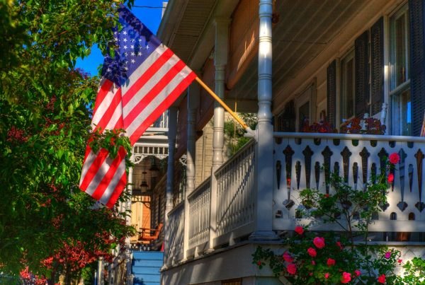 American flag on summer day.- Sharpsburg, MD.