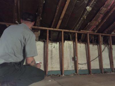 Post-Demo: Park Ranger inspects the second floor